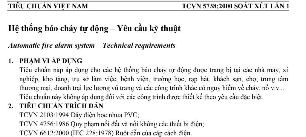 TCVN 5738-2001 HTBC- Yeu cau ky thuat