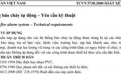 TCVN 5738:2000 | Hệ thống báo cháy tự động – Yêu cầu kỹ thuật