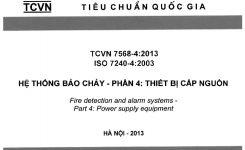 TCVN 7568-4:2013 Hệ Thống Báo Cháy – Phần 4: THIẾT BỊ CẤP NGUỒN