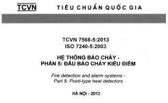TCVN 7568-5:2013 Hệ Thống Báo Cháy – Phần 5: ĐẦU BÁO CHÁY KIỂU ĐIỂM