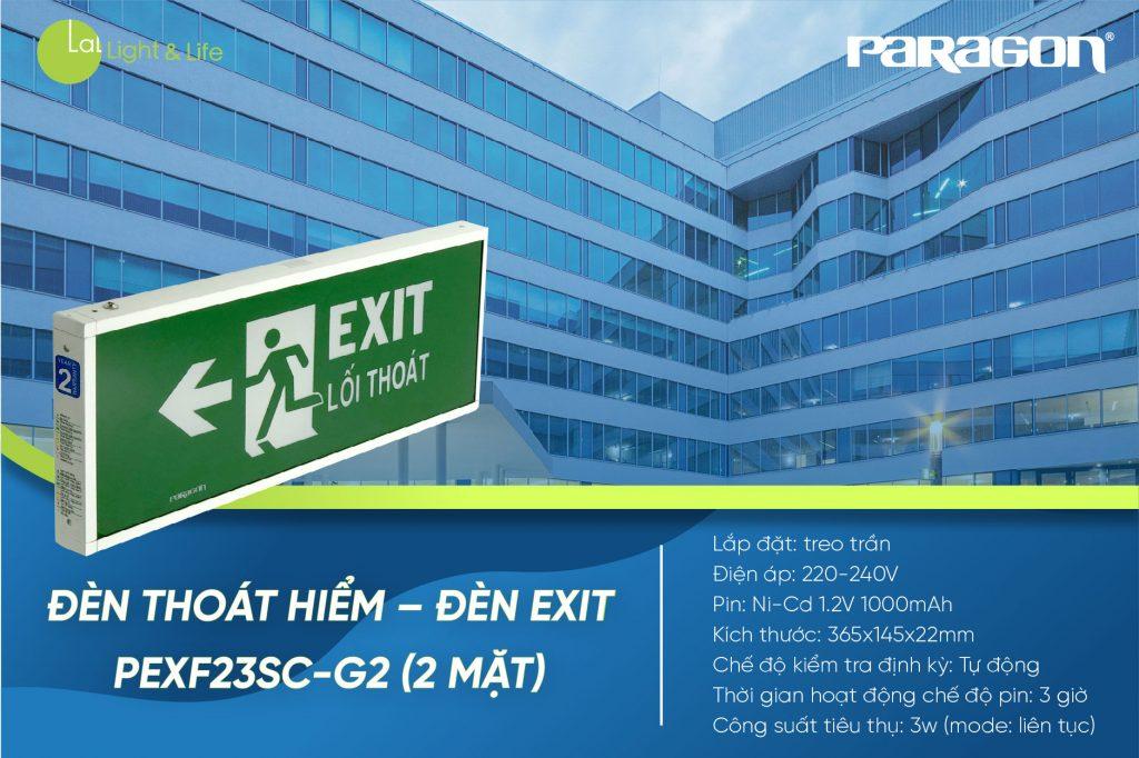 Đèn Exit PEXF23SC-G2