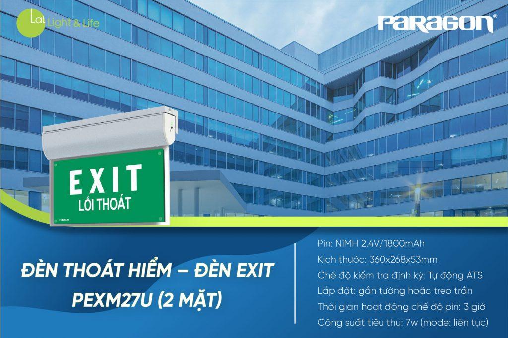 Đèn Exit PEXM27U