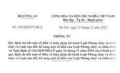 Thông tư 149/2020/TT-BCA